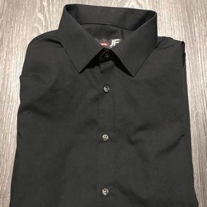 J. Ferrar Slim Fit 16-16 1/2, 32-33 Black